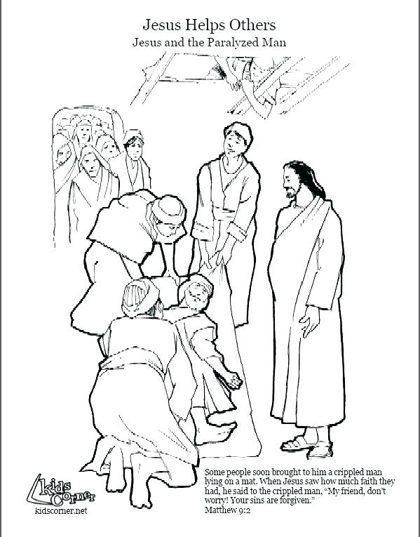 599x765 Jesus Heals A Paralytic Coloring Page Heals Coloring Page Heals