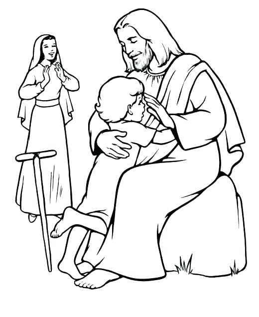 520x636 Jesus Heals Blind Man Coloring Page Blind Man Coloring Page
