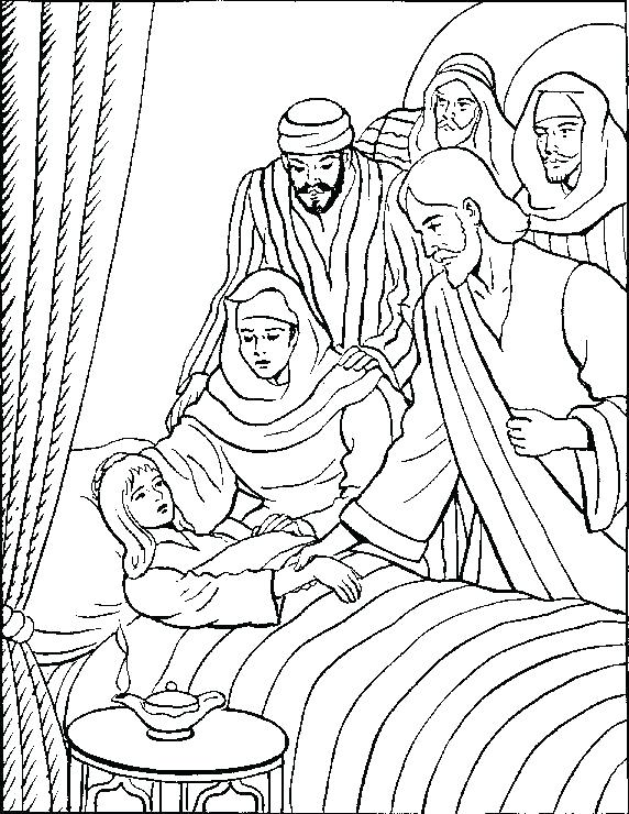 572x740 Jesus Heals Coloring Page Daughter Coloring Page Daughter Coloring