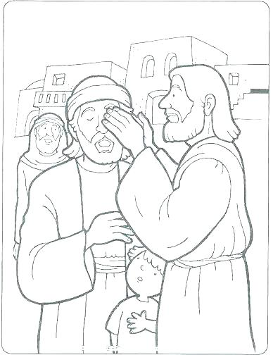 388x504 Jesus Heals Coloring Page Heals The Lame Man Coloring Page Heals