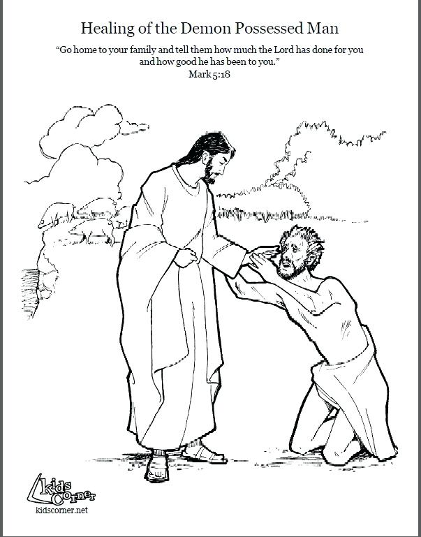 603x769 Jesus Heals Coloring Page Lame Man Healed Coloring Page Pictures