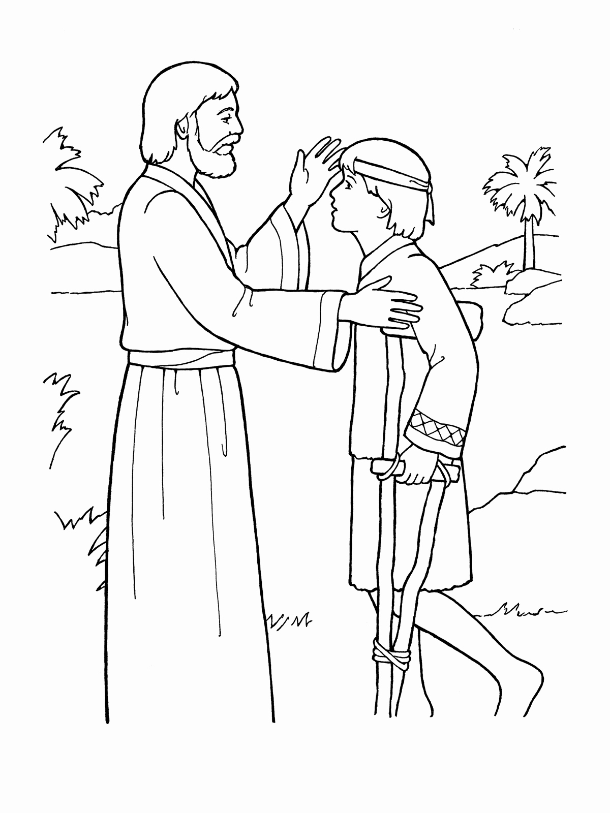 1200x1600 Jesus Heals Coloring Page Pics Jesus Heals Coloring Sheet Page