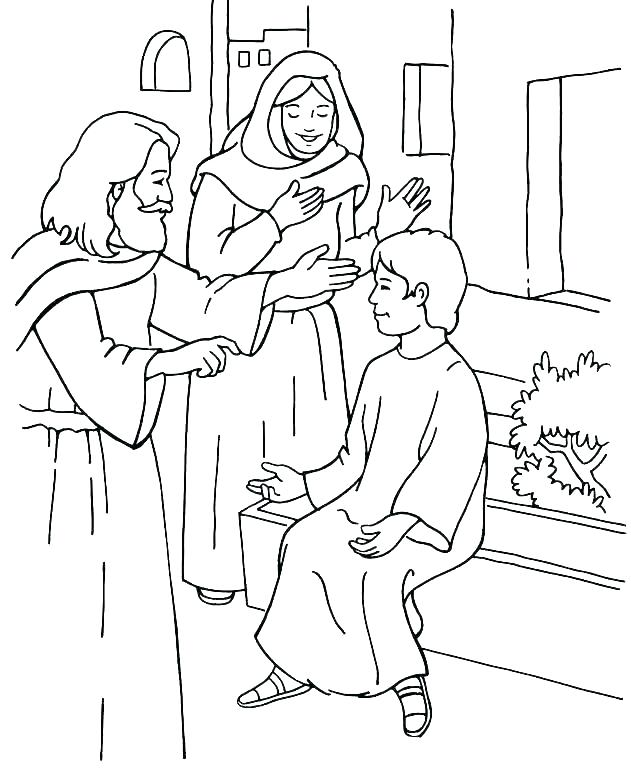 631x768 Jesus Heals The Blind Man Coloring Page Story Healing The Blind