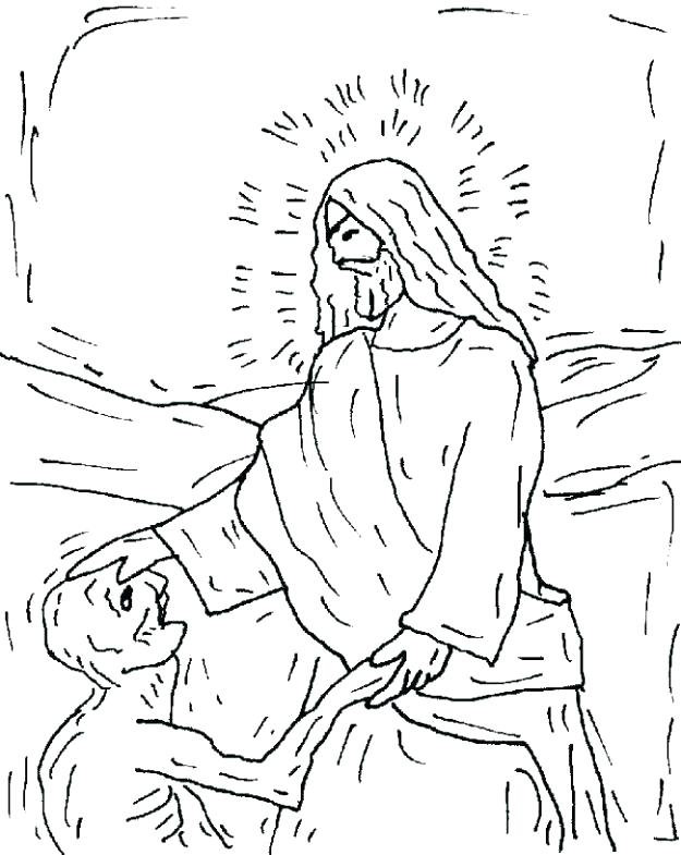 625x785 Jesus Heals The Paralytic Coloring Page Heals Coloring Page Heals