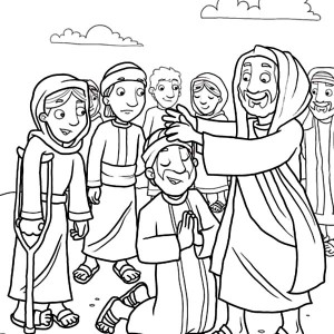 300x300 Jesus Heals The Sick Coloring Page