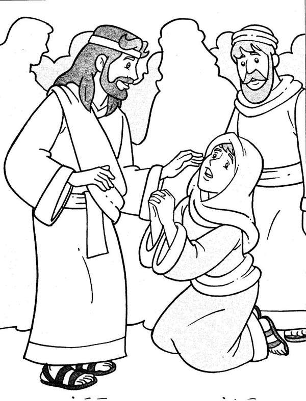 600x788 Jesus Heals The Sick In Miracles Of Jesus Coloring Page