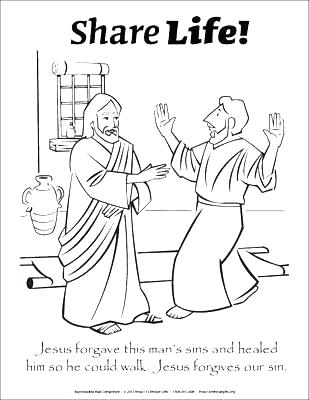 309x400 Jesus Heals The Lame Man Coloring Page Vanda