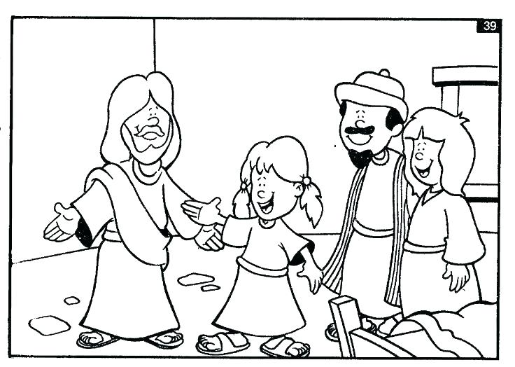 736x524 Healing Coloring Pages Daughter Coloring Page Dinner Party Bible