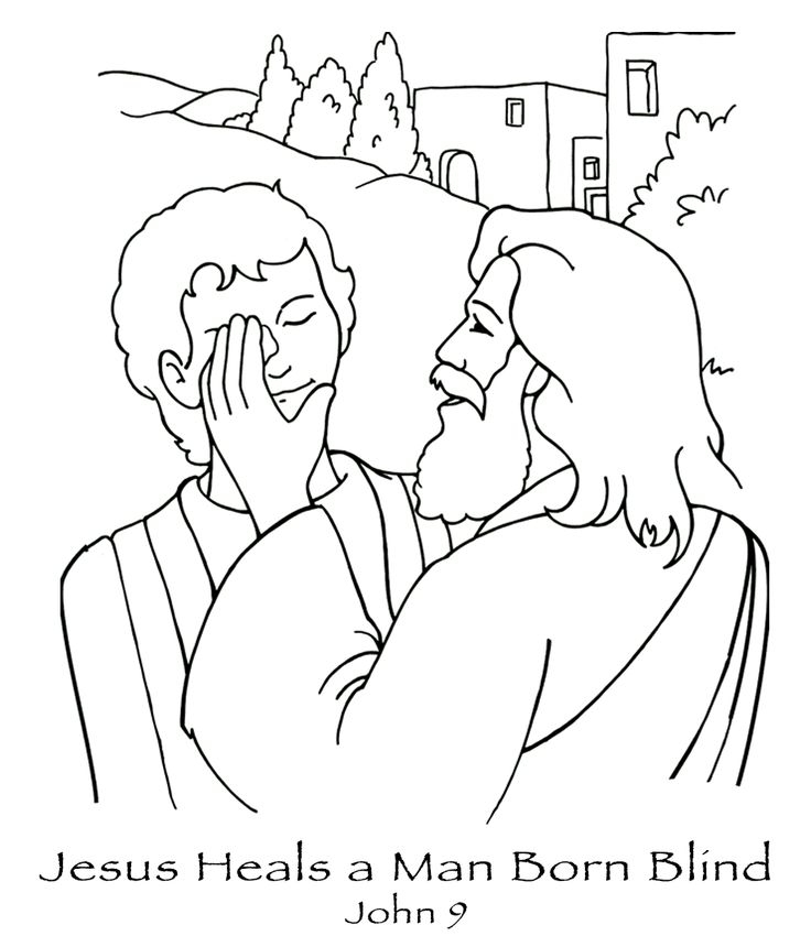 736x850 Jesus Heals A Blind Man Coloring Page Free Coloring Pages