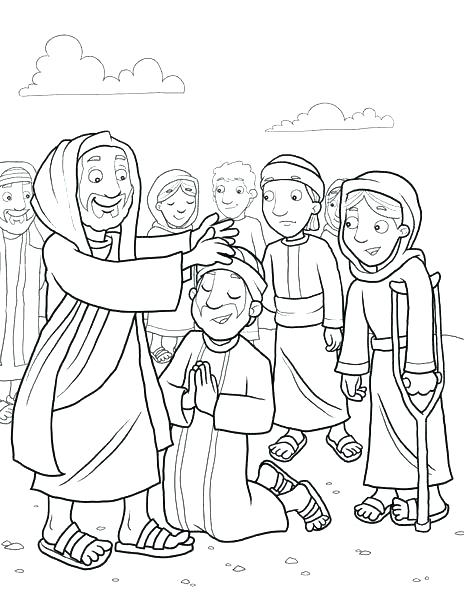 464x600 Jesus Heals A Blind Man Coloring Page Heals Blind Man Coloring