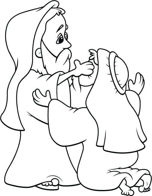 Jesus Heals The Blind Man Coloring Page at GetDrawings.com | Free ...