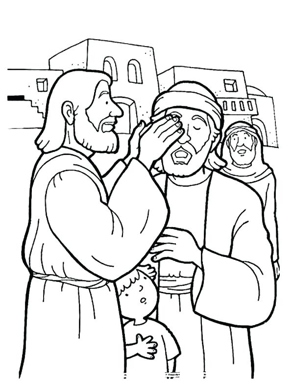 600x779 Jesus Heals Blind Man Coloring Page Kindness Kindness Is Healing