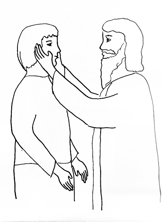 643x878 Bible Story Coloring Page For Jesus Heals A Deaf Man Free Bible