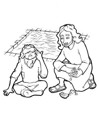 381x479 Jesus Heals The Blind Man Coloring Page Children's Ministry Deals