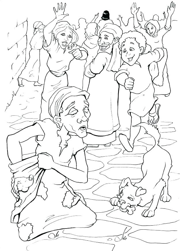 625x870 Jesus Heals The Lame Man Coloring Page Heals Coloring Page Heals