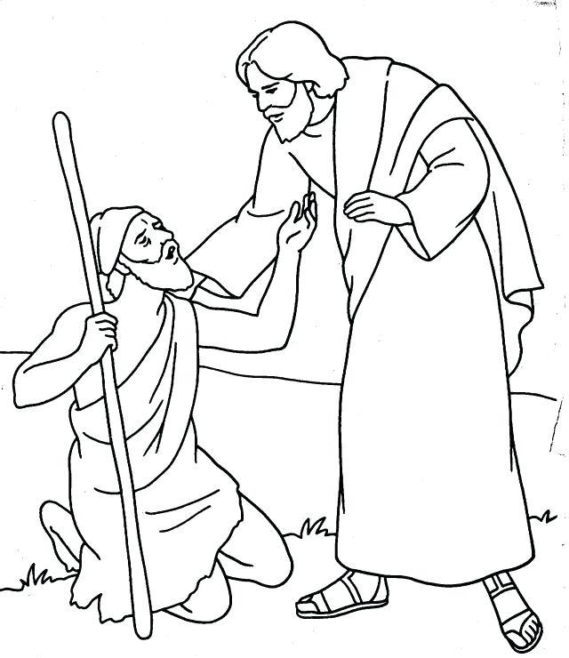 640x740 Jesus Heals The Trend Jesus Heals The Blind Man Coloring Page