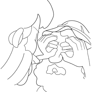 300x300 Jesus Heals A Blind Man Coloring Page