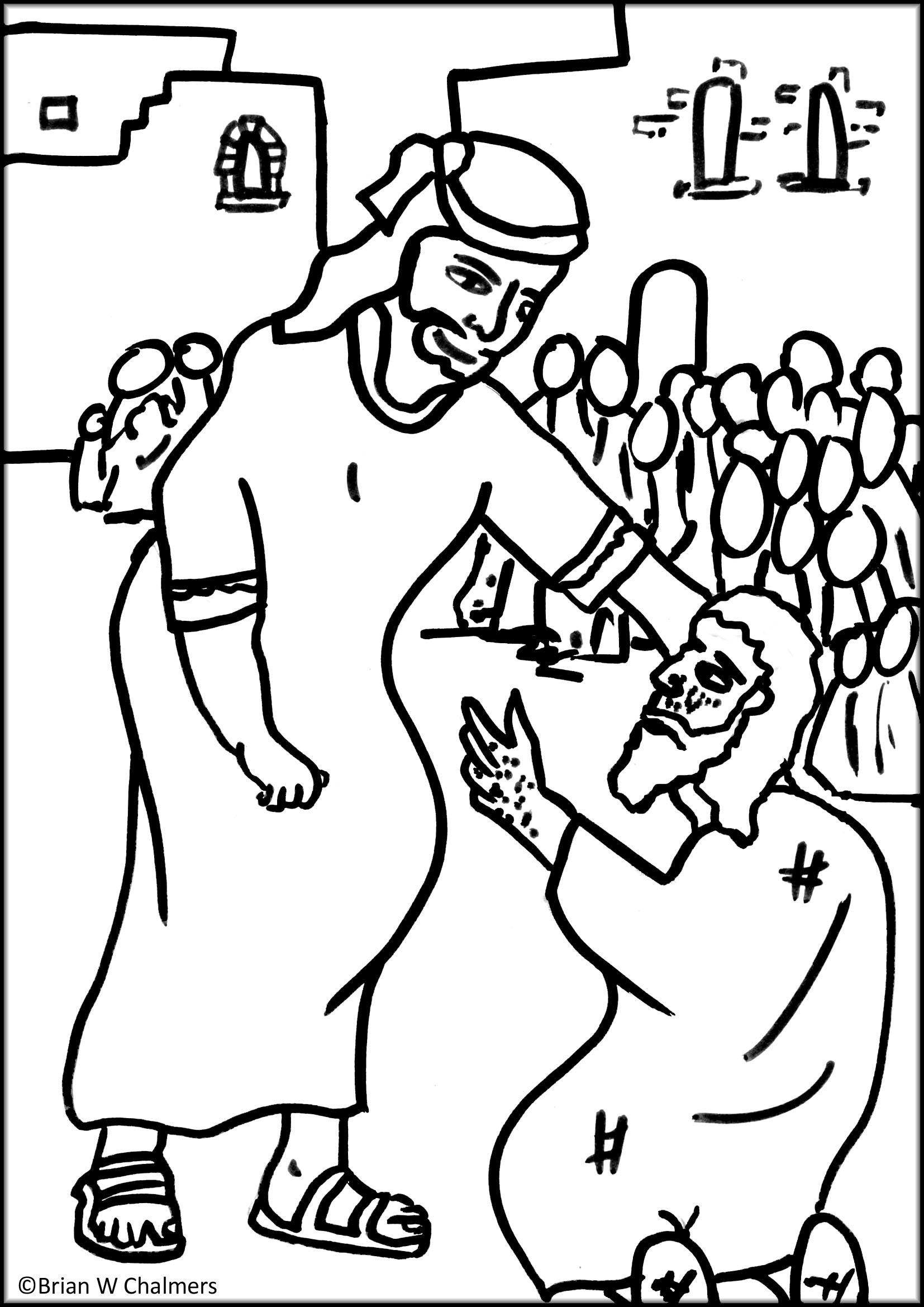 1654x2339 Top Blind Man Coloring Page Stunning Jesus Heals Bartimaeus Pic
