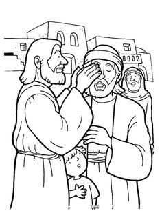 236x306 Free Coloring Pages Printable Jesus Heals The Blind Man Jesus