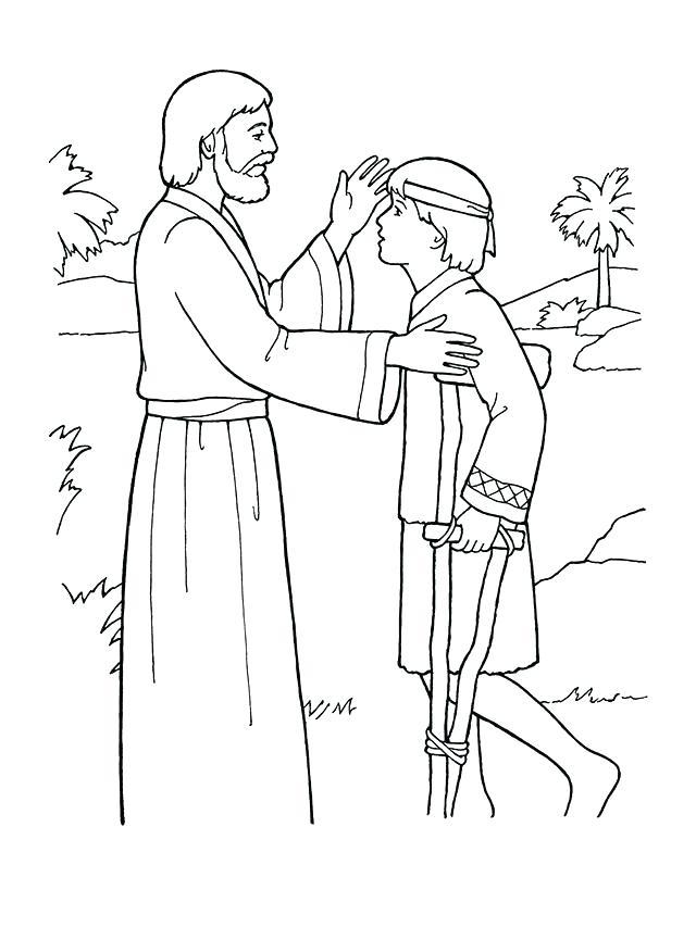 640x853 Jesus Heals Blind Man Coloring Page