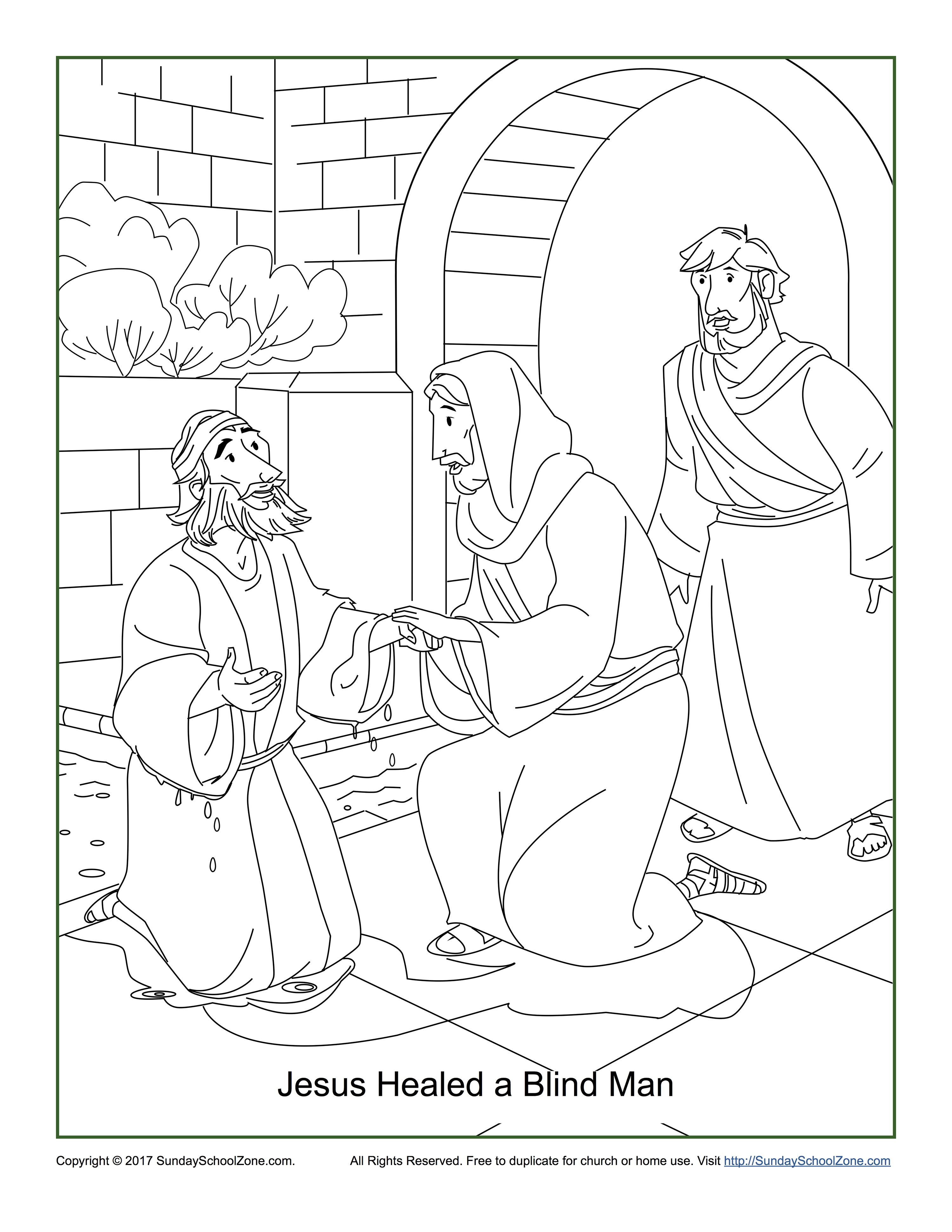 3000x3882 Jesus Healed A Blind Man Coloring Page Jesus Healed A Man Born