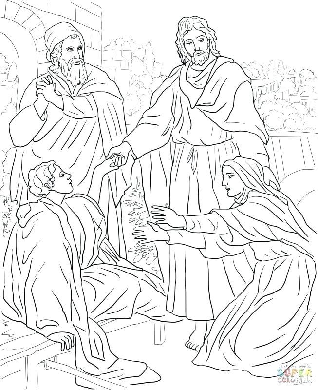 653x800 Jesus Heals Lepers Coloring Page Heals Ten Lepers Coloring Page