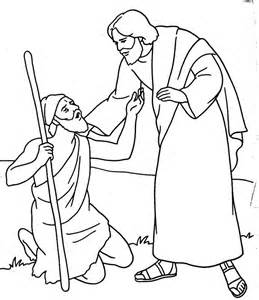 Jesus Heals The Blind Man Coloring Page at GetDrawings.com ...