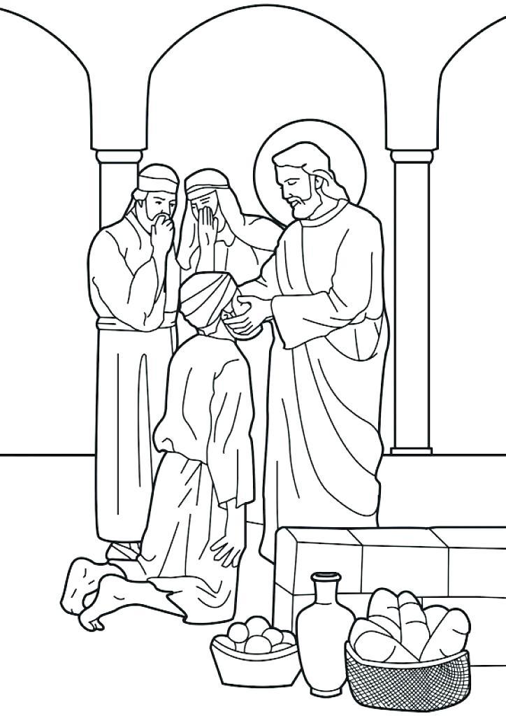 724x1024 Jesus Heals A Blind Man Coloring Page Best Doctors Body Heals