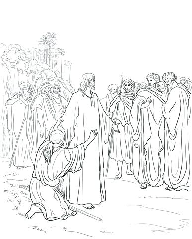387x480 Jesus Heals A Blind Man Coloring Page Click To See Printable