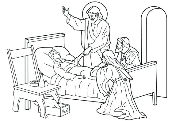 561x397 Healing Coloring Pages Heals Coloring Page Heals The Sick Healing