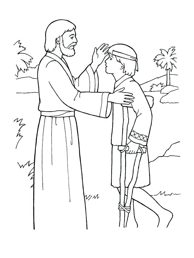 640x853 Jesus Heals Blind Man Coloring Page Heals The Sick Coloring Page
