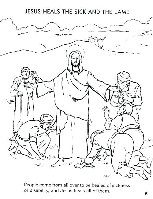 500x650 Jesus Heals Coloring Page Coloring Pictures Of Miracles Free