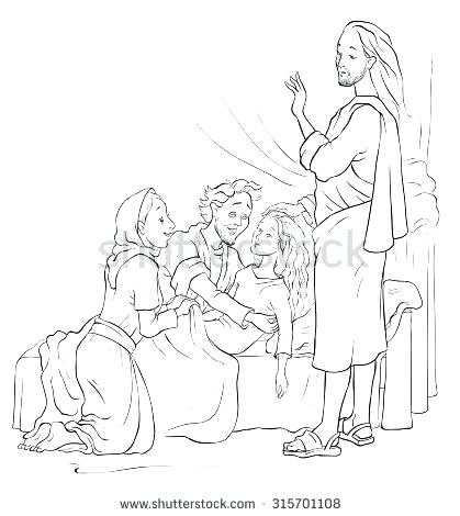 419x470 Jesus Heals Coloring Page Daughter Coloring Page Raising
