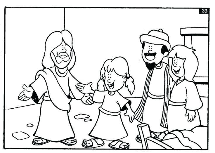 736x524 Jesus Heals Coloring Page Daughter Coloring Page Y Jesus Heals