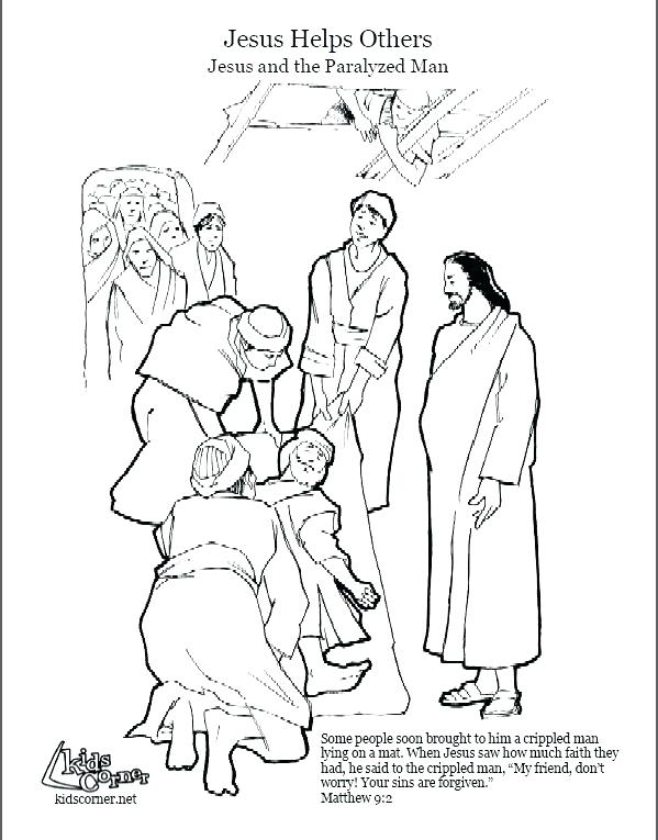 599x765 Jesus Heals Coloring Page Heals The Paralytic Coloring Page Images