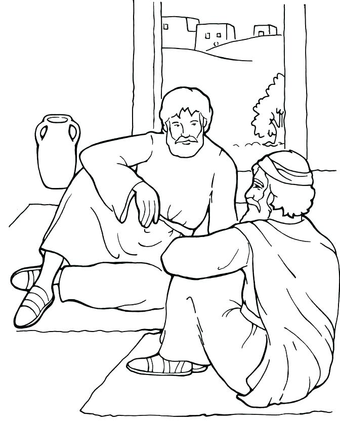 672x839 Jesus Heals Coloring Page Heals Sick Coloring Page Healing