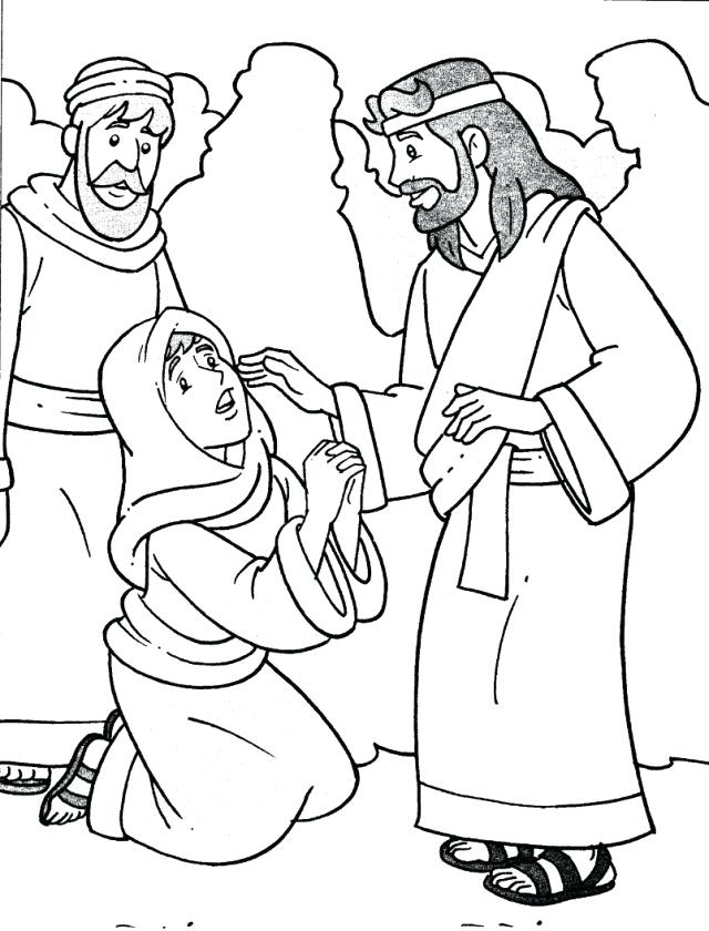 640x840 Jesus Heals Coloring Page Heals The Sick Coloring Pages Coloring