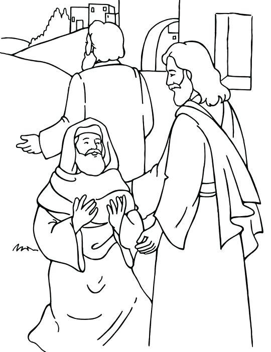 540x702 Jesus Heals Jairus Daughter Coloring Page Heals The Sick Coloring