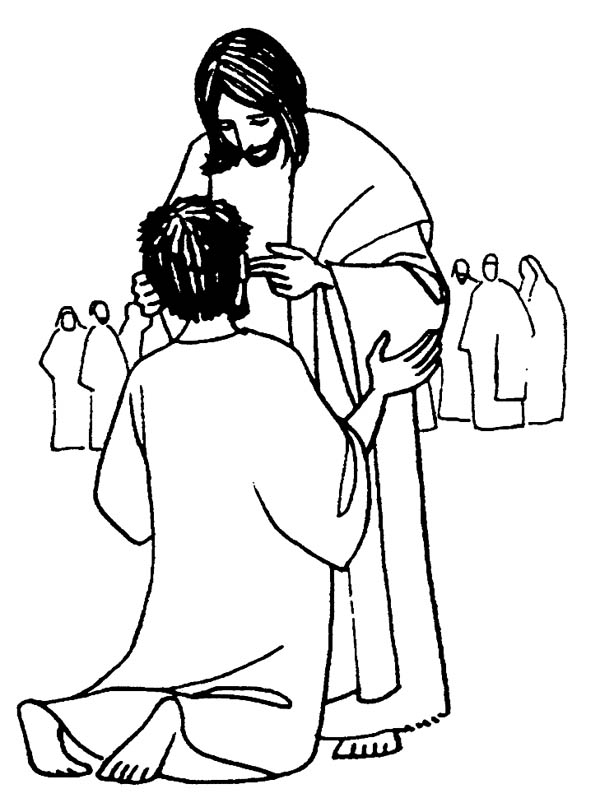 600x812 Jesus Heals The Sick Is Miracles Of Jesus Coloring Page