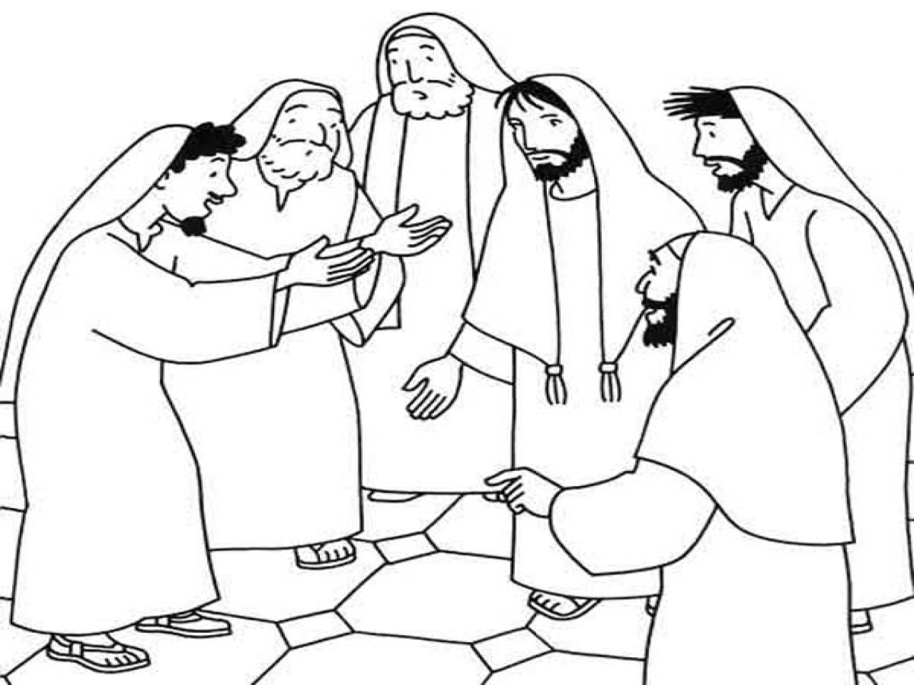 1280x960 Sick Person Coloring Page Miracles Of Jesus Heals
