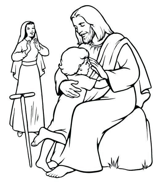 520x636 Healing Coloring Pages Jesus Heals Coloring Page Heals The Sick
