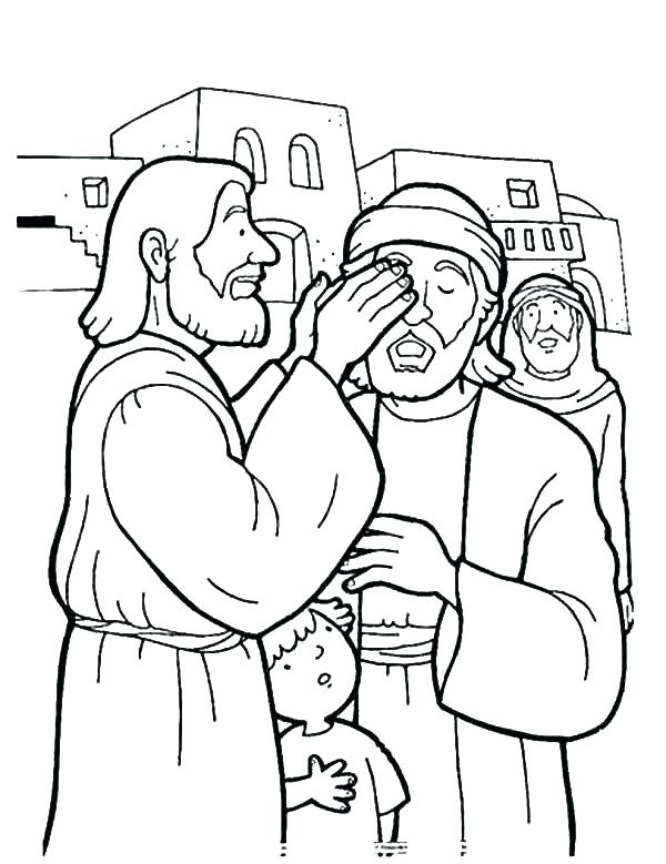 600x779 Healing Coloring Pages Healing The Sick Coloring Page Jesus
