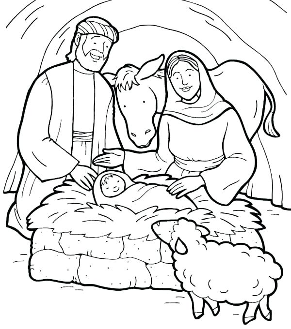 600x680 Baby Jesus Coloring Pages Baby Online Coloring Printable Baby