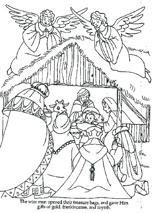 648x900 Jesus In A Manger Coloring Page