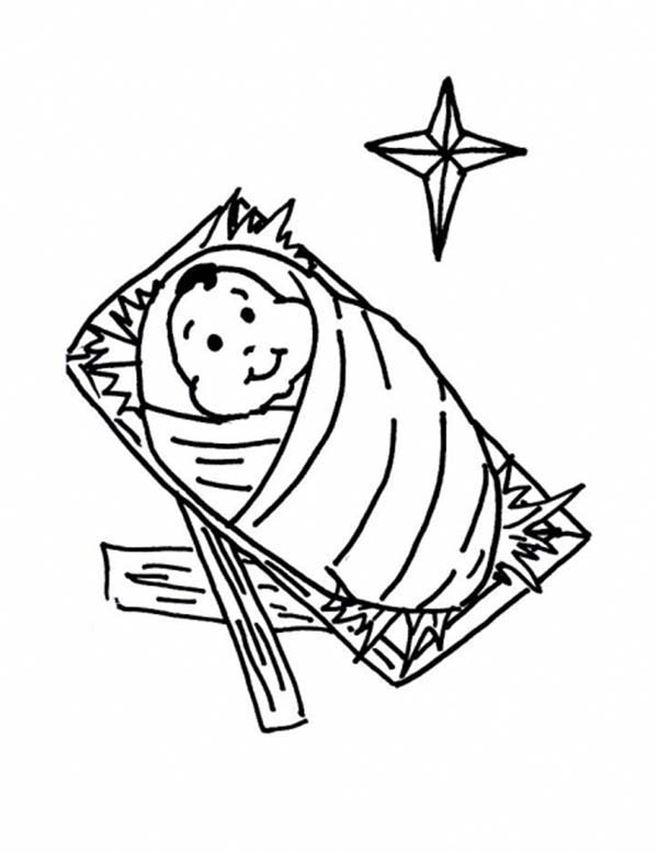 600x778 Baby Jesus For Kids Coloring Page Free Download