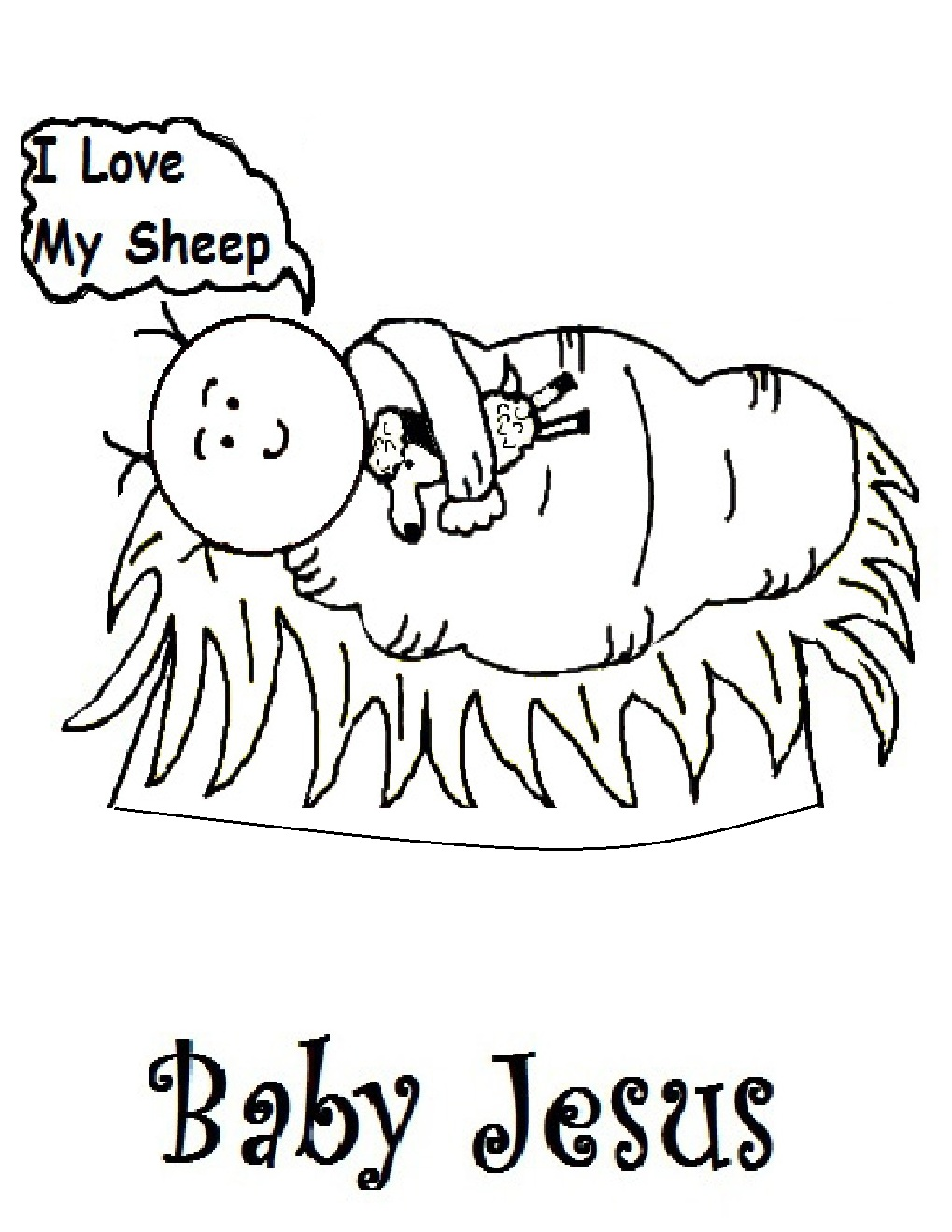 1019x1319 Baby Jesus In A Manger Coloring Page Free Printable Pages