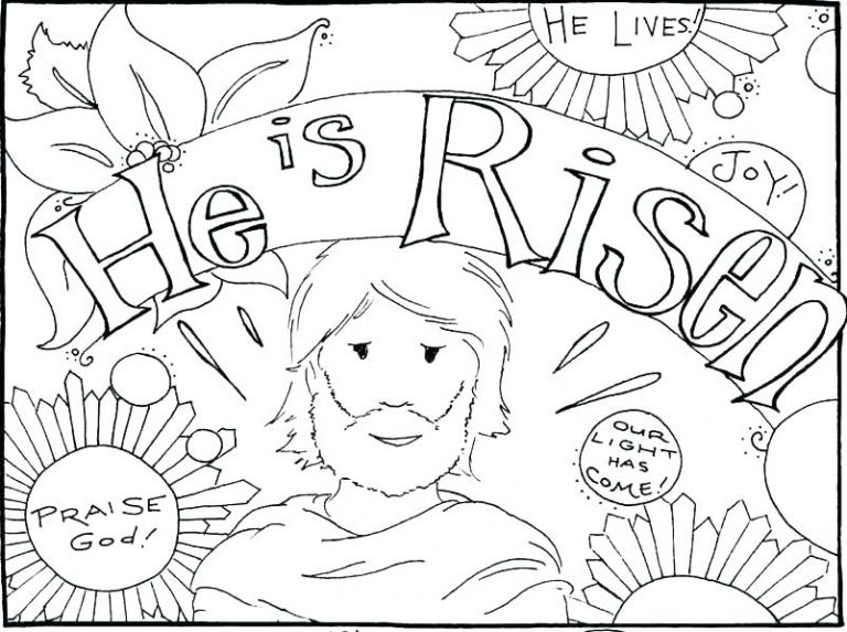 768x573 Free Coloring Pages Easter Jesus Fresh Copy Is Alive Page Of Has
