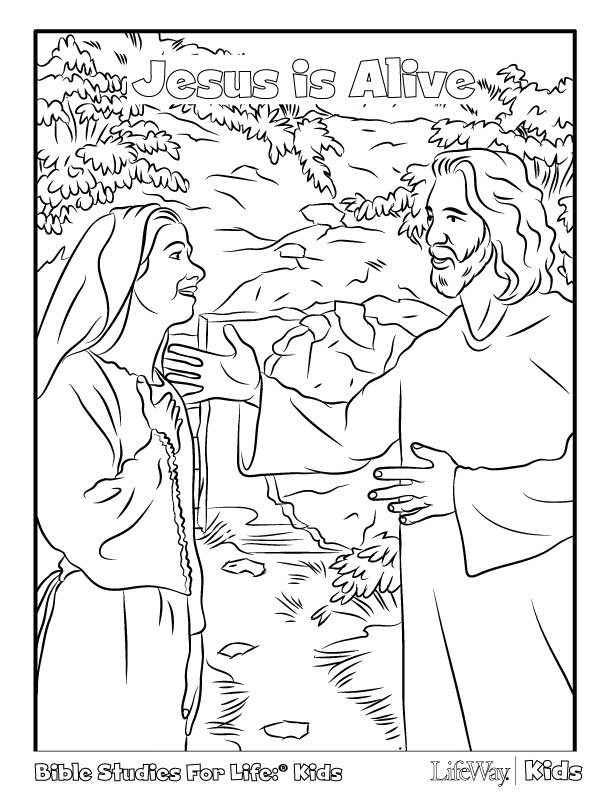 612x792 Free Easter Coloring Pages Coloring Page Jesus Is Alive In New