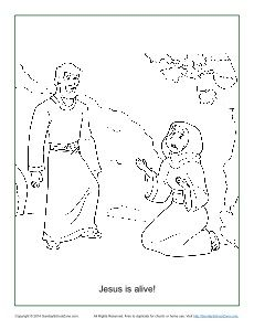 230x298 Jesus Is Alive! Resurrection Coloring Page On Sunday School Zone