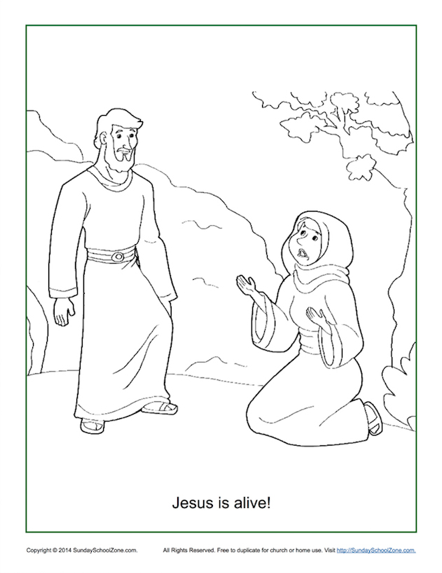 631x817 Jesus Is Alive! Resurrection Coloring Page On Sunday School Zone